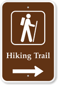 Hiking Trail w/ Right Arrow