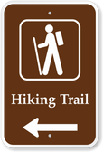 Hiking Trail with Left Arrow