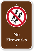 No Fireworks Sign