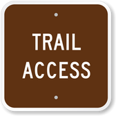 Trail Access Sign