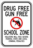 red black and white rectangular 3M High Intensity Prismatic 12x18 DRUG FREE GUN FREE