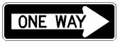 R6-1R -One Way Sign