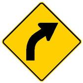 Right Curve Sign W1-2R MUTCD