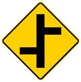 W2-7L OFFSET SIDE ROAD LEFT