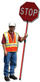 Retractable Stop Slow Sign Staff