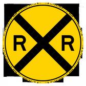 Railroad Advance Warning Sign