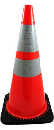 """28"""" Traffic Cone with Reflective Collars"""