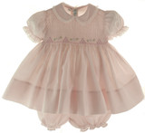 Feltman Brother Baby Girls Pink Smocked Dress & Diaper Panty
