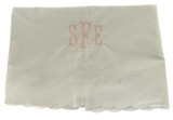 Feltman Brothers White Embroidered Receiving Baby Blanket