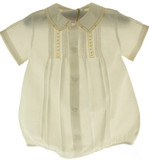 Feltman Brothers Boys Yellow Maize Bubble Outfit with Collar