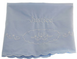 Feltman Brothers Baby Boys Blue Receiving Blanket