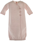 Infant Girls Pink Knit Gown