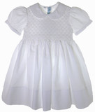 Toddler Girls White Smocked Portrait Dress - Feltman Brothers