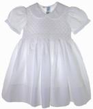 Toddler Girls White Smocked Portrait Dress - Feltman Brothers