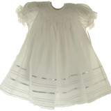 Girls Solid White Smocked Bishop Dress Willbeth