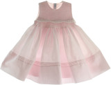 Girls Pink Sleeveless Portrait Dress Feltman Brothers