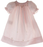 Baby Girls Pink Smocked Take Home Day Dress Rosalina