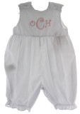 Girls White Monogrammable Summer Romper Outfit