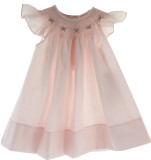 Girls Pink Angel Bishop Dress