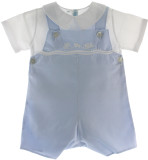 Boys Blue Train Shortall Outfit & Shirt Set Feltman Brothers