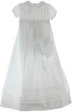 Boys White Baptism Gown & Romper Set