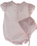 Newborn Girls Pink Layette Bubble