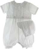 Boys White Christening Knicker - Petit Ami