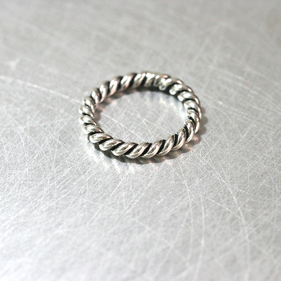 Oxidized Twist Band Ring Sterling Silver from kellinsilver.com