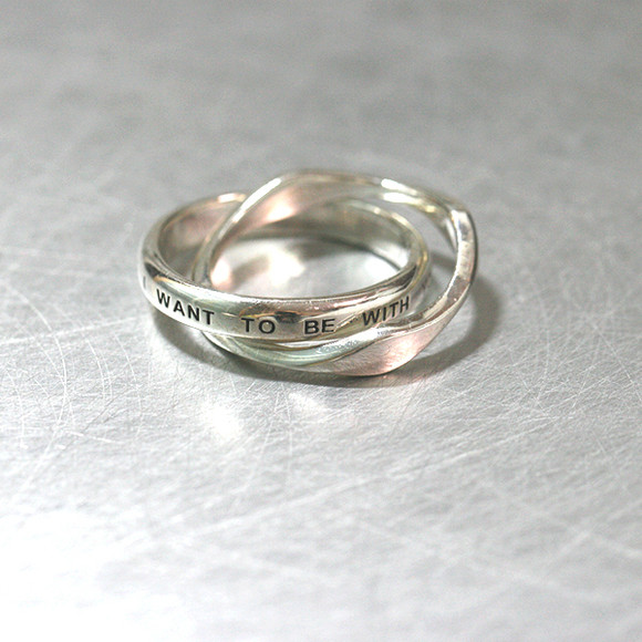 """ NOW AND FOREVER I WANT TO BE WITH YOU ""  Message Ring Sterling Silver from kellinsilver.com"