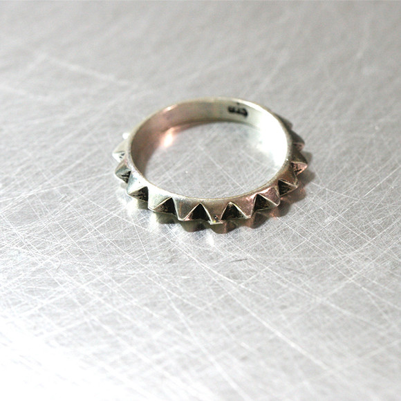 Oxidized Sterling Silver Stud Eternity Band Ring from kellinsilver.com