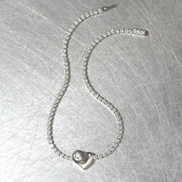 Signity Stone Heart Tennis Bracelet Sterling Silver from kellinsilver.com