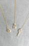 CZ Gold Heart Rock Charm Necklace Sterling Silver from kellinsilver.com