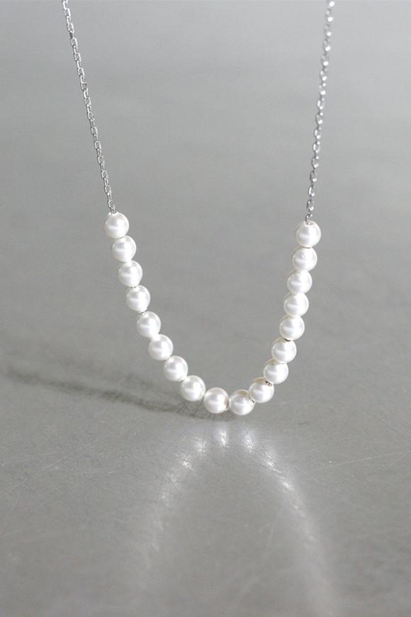 Swarovski Pearl Necklace Sterling Silver from kellinsilver.com