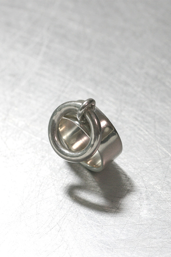 Sterling Silver Wide Band Hoop Ring from kellinsilver.com