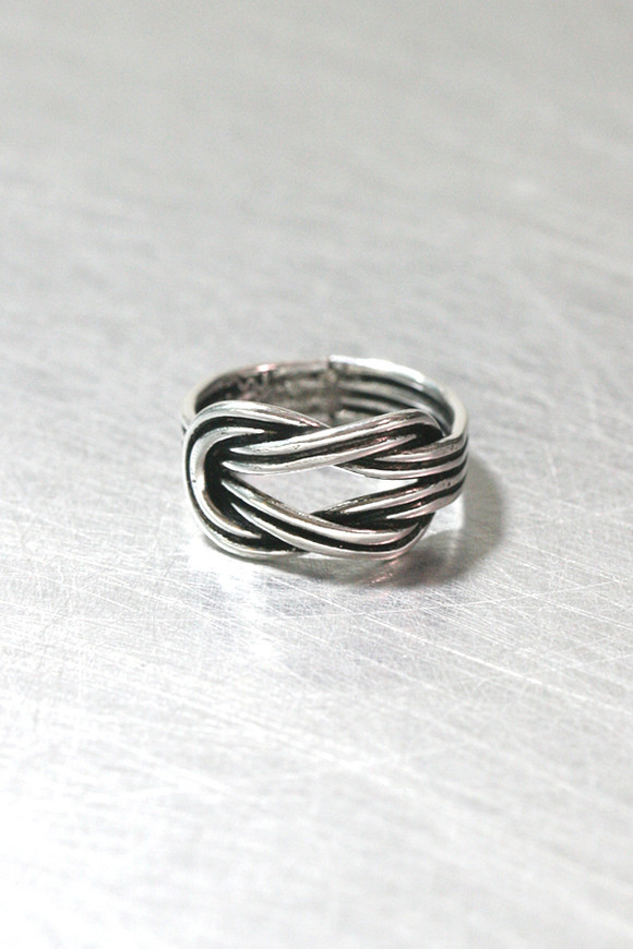 Oxidized Sterling Silver Double Knot Ring from kellinsilver.com