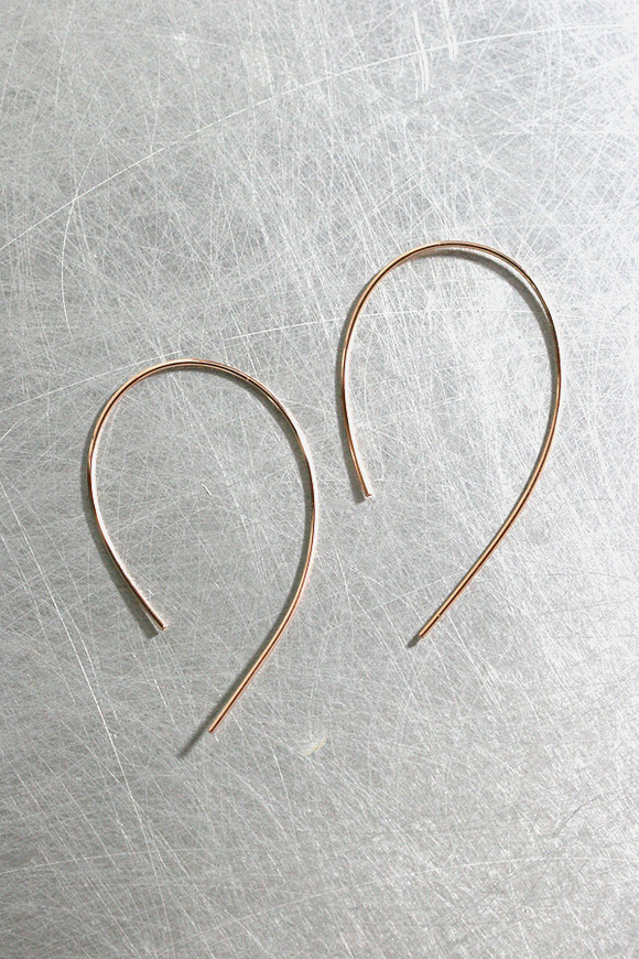 Emily Curved Wire Earrings Sterling Silver  from kellinsilver.com