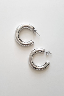 Sterling Silver Favorite Hoop Earrings from kellinsilver.com