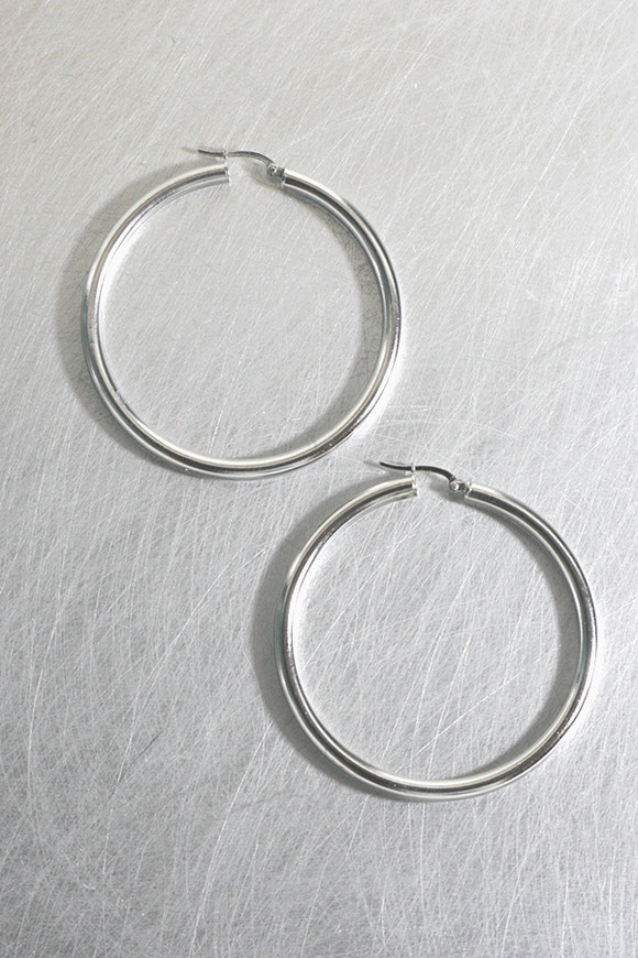 55mm Sterling Silver Large Hoop Snap Earrings from kellinsilver.com