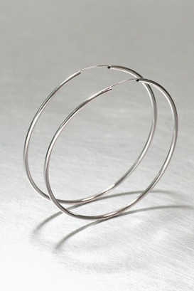 80mm Sterling Silver Pipe Hoops from kellinsilver.com