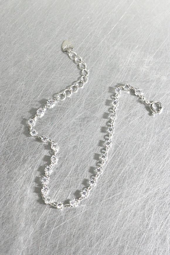 CZ Bitty Chain Bracelet Sterling Silver from kellinsilver.com