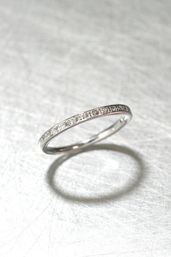 Simple CZ Ring Sterling Silver from kellinsilver.com