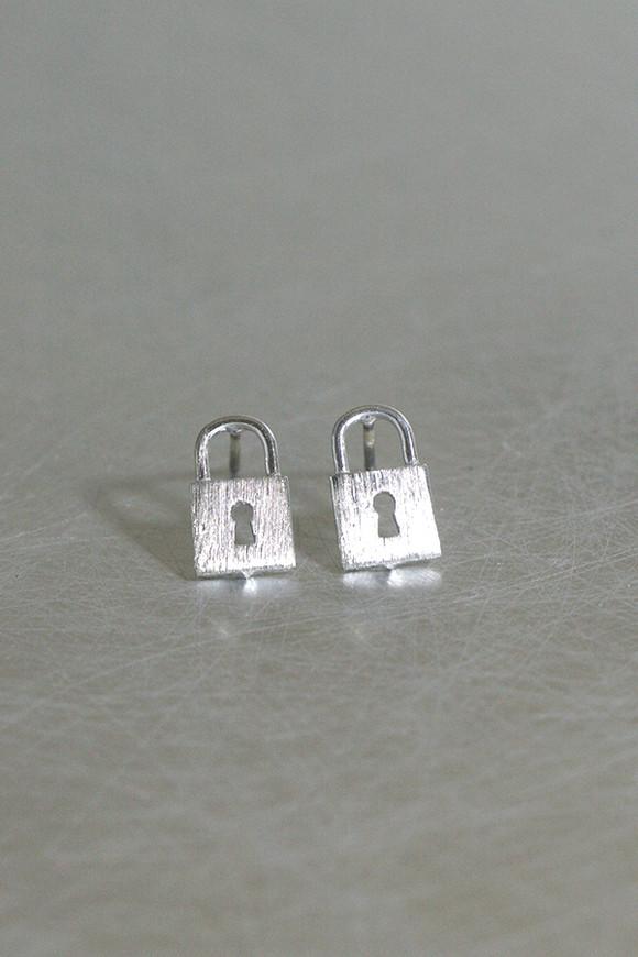 Silver Lock Stud Earrings from kellinsilver.com