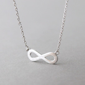 Surface Silver Infinity Necklace