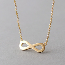 Surface Gold Infinity Necklace