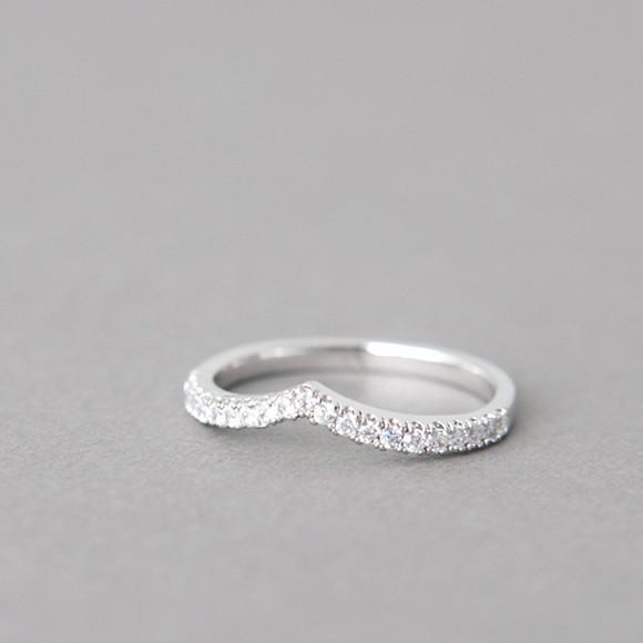 cz tiara v ring white gold kellinsilver