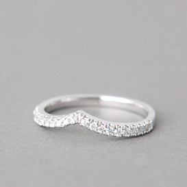CZ Tiara V Ring White Gold from kellinsilver.com