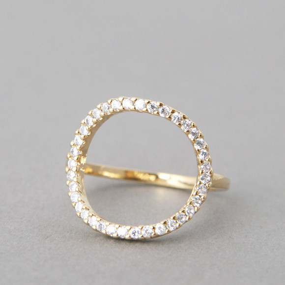 Swarovski Circle Ring Gold from kellinsilver.com
