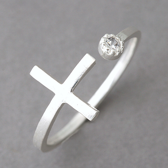 cz sideways cross wrap ring sterling silver kellinsilver