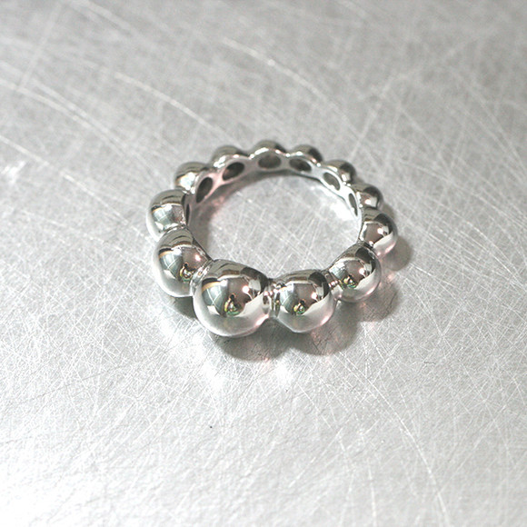 Volume Bubble Eternity Ring Sterling Silver from kellinsilver.com