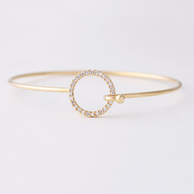 Swarovski Circle Cuff Bangle Gold from kellinsilver.com
